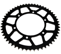 Rear alloy sprockets